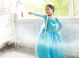 Wholesale New Frozen dress costumes long sleeve skirt Princess Elsa party wear clothing for Halloween Saints Day