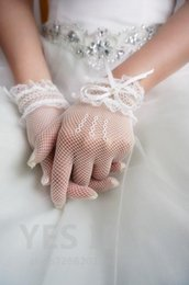 Wholesale The bride wedding dress gloves brief paragraph elastic knits contracted to Europe and the United States gloves gloves