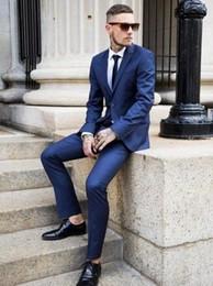 Wholesale 2015 Custom Slim Fit Mens Business Suit Jacket Pants Tie Handsome Men s Suits Spring Hot Sell Wedding Suits Groom Ebelz Custom
