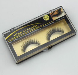Wholesale Premium Quality False Eyelashes Handmade Natural Long Thick Mink Fur Eyelashes Soft Fake Eye Lash extensions Black Terrier Full Strip Lashes