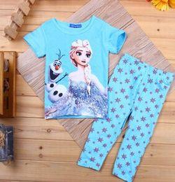Wholesale Newest girls frozen elsa pajamas kids baby sets children s pajamas cotton nightgown china cheap Elsa frozen pajamas