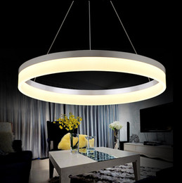 online shopping single rings circles modern led pendant lights for dining room white acrylic led pendant cheap modern pendant lighting
