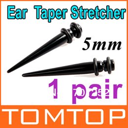 Wholesale 10 pairs Pair Black Magnetic Fake Cheater Ear Expander Taper Plug Stretcher g mm Dropshipping