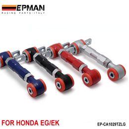 Управление EPMAN Arm RACING РЕГУЛИРУЕМОЕ CAMBER REAR ARMS НАБОР ДЛЯ 88-00 Honda Civic (черный / синий / красный / Щепка) EP-CA1029TZLG