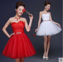 Wholesale wedding dresses strapless dress sleeveless ball gown Lace up