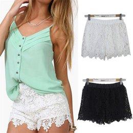 2015 quente Europeu Moda Primavera Verão Mulheres Shorts Elástico Alta cintura Lace Shorts Casual Calças Curtas