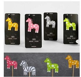 Wholesale Bookzzicard colorful pony metal bookmark Horse story students gifts bookmarks