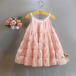 Wholesale Summer Girls A Line dress New Korean Lovely doll dress sweet princess vest dress baby clothes C001