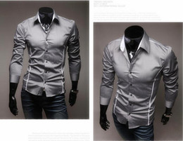 Discount Mens Designer Dress Shirts Wholesale - 2016 Mens Designer ...