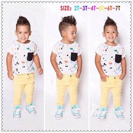 Wholesale 2015 Cool Baby Boy Clothing Boys Short Sleeve T shirt Pants Clothing Comfortable Casual Clothes for Cute Boys TH0021