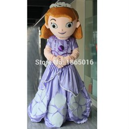 Wholesale Hot selling sofia the first princess costume sofia the first mascot costume pc