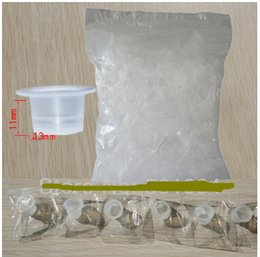 Wholesale High Quality White Plastic Disposable Medium Tattoo Ink Holder Cups Caps Pigment Supplies tattoo body art