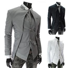Wholesale Quente novo estilo britânico homens slim estilo homens elegantes design blazer moda casual negócios jaqueta homens vestuário frete grátis
