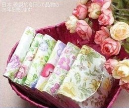 Wholesale Brief Cotton Full small flowers Sanitary Napkin Bag Sanitary Towel Storage Bag Sanitary Napkins Pads bag layers
