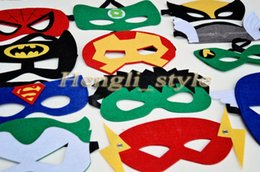 Wholesale Mix Colors Superhero Kids Cartoon Eye Masks Halloween Masks Cosplay Masquerade Mask Party Eye Mask Superman Batman Mask Eye Shade