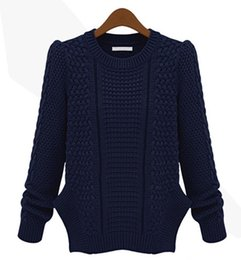Wholesale 2015 New Women Pullover Sweater Winter Warm Knitted Thickening Long Sleeve Basic Jumpers Lady fashion Knitwear Clot sv00503511F