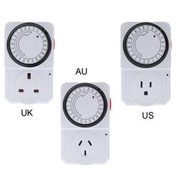24 horas Programa Enchufe programable mecánica temporizador Interruptor de alimentación Energy Saver UK / US / AU Plug orden $ 18Nadie pista