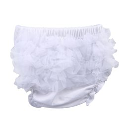 Wholesale Hot Sell Baby Cotton PP Underpants Infant Ruffle Briefs Toddler Bloomer Clothes ELT1