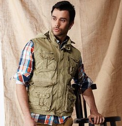 Wholesale men s Pure cotton Hooded vest jacket and outdoor casual waistcoat men Hot sale
