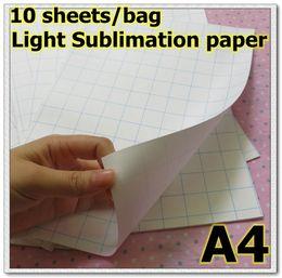 2017 heat sublimation paper Wholesale-10 sheets bag light sublimation Paper Heat Transfer paper T-shirt Paper clothing paper inexpensive heat sublimation paper