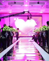 10m Par lot 1.2m Wide Shine Silver Miroir Tapis couloir Runner Pour mariage romantique Favors Party Decoration 2016 Nouvelle Arrivée LLFA