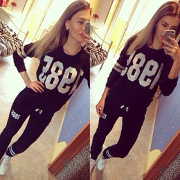 Wholesale 2015 Hot Sale Tracksuits Piece Set Sports Set For Women sweatshirt Pant Cotton Women Tracksuits Sports Suit