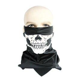 Wholesale Skull Face mask warmer windproof scarfs for women CS game mask helmet Halloween headbands multi function hats scarf masks Bandana good sell