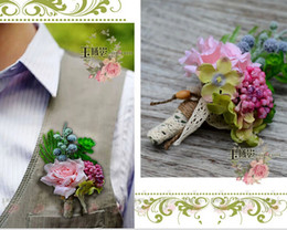 Wholesale Hot Sale Groom Accessories Groom Flower Pins Wedding Accessories Hand Made Flowers Men Suit Corsage Dhyz