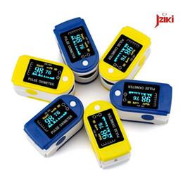 Wholesale New Arrival LED Finger Pulse Oximeter Blood Oxygen SpO2 Saturation Oximetro Monitor Blood pressure auxiliary Alarm oximetry