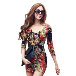 Womens stylish deep v neck lace tunic mini dress