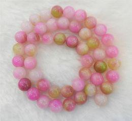 Wholesale 8mm Pink Multicolor Kunzite Round Loose Beads quot quot AA quot GA300