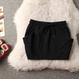 Wholesale 2015 new arrival cotton sport casual women skirt elastic waist skirt with pockets long cm KG