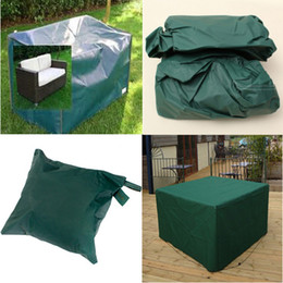 152x82x92cm Outdoor Furniture Cover Woven Polyethylene Garden Patio Coffe Table  Chair Desk Waterproof Shelter Square Outdoor
