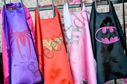 Wholesale 2015 cm Superhero Kids Cape New kids superman cape Colorful Superman Cape a of color