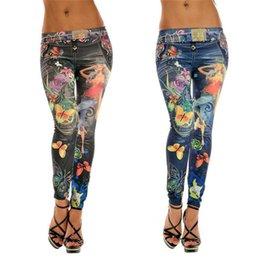 Wholesale Hot sales Fashion Women Girls Skinny Leggings Pencil Pants Polyester Spandex Printed Stretchy Sexy KX54