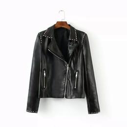 Discount Leather Spike Jacket Women | 2017 Spike Black Leather