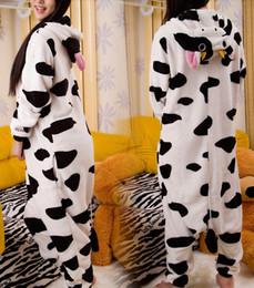 Wholesale Adult Cartoon Animal Cow Onesies Cosplay Unisex Onesie Pajamas Kigurumi Theme Costumes Jumpsuit Costumes Hoodies Sleepwear For Adults WZ