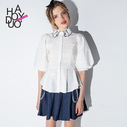 Discount White Blouses For Women Ruffles | 2017 White Blouses For ...
