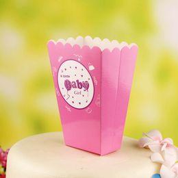 Wholesale Color Paper Popcorn Box Disposable Dessert Cup Holder Party Supplies