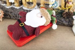 Wholesale 3D Plush Doll Toy Merry Christmas Gift Santa Claus Cute Soft Silicone gel Case Cartoon for Iphone S plus I6S G S skin Luxury