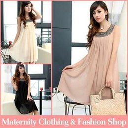 Wholesale Pregnant Maternity Dresses Casual Pregnancy Clothes For Pregnant Women Clothing Gravida Chiffon Knee length Summer