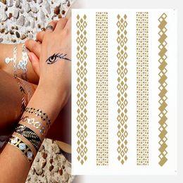 Wholesale 2015 Hot Sales Golden Carving Bracelet Paste Glitter Tattoo Kit Metal Tattoo Sticker Tattoo Ink