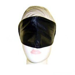 Wholesale Sex product bondage adult products PVC eye mask gear Black patent leather goggles