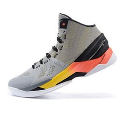 Men's Athletic Basketball Sneaker Curry 2 Grey Shiekh Shoes