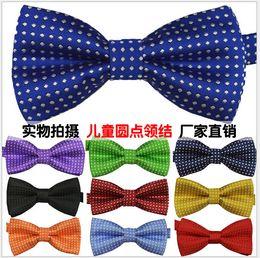 Wholesale Hot Sale New kids Bowties men s ties men s bow ties boys bow tie pure color bowtie Star Check Polka Dot Stripes