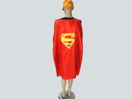 Wholesale 2015 Adult Costumes Cosplay superhero cape customize logo Superman Spiderman Batman Ironman cm Double layer Adult cape styles