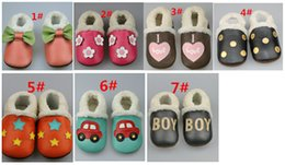 Wholesale Retail Styles Baby Shoes Winter Warm First Walker Shoes Infant Soft Leather Toddlers Baby Kids Moccasins For m