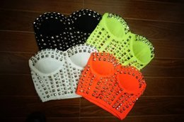 Wholesale 2015 Summer Women European Rivet Wrapped Chest Sexy Top Nightclub Women T shrit Party Cool Fashion Clothes Tops Bra Tees B