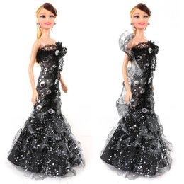 Wholesale 2015 wedding dress Doll Children dolls Lace Appliques Crystal Sequins cm wedding doll