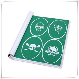 Wholesale 1 Book With100pcs Skull series Designs Reusable Adhesive Airbrush Tattoo Stencil Template New Book For Body Paint